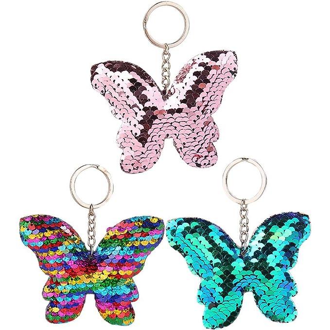 Portachiavi Mermaid Keyring Lanyard Keychain Bag Charm Gift In Purple Bambini 2 - 16 anni