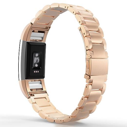 24 opinioni per MoKo Fitbit Charge 2 Cinturino, Braccialetto di Acciaio Inossidabile +