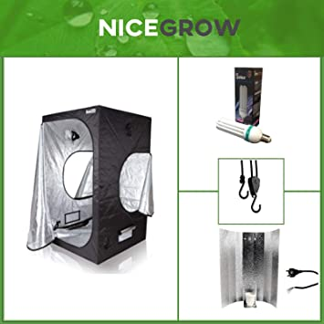 Growset Aufzucht Dark Box 80 Serie Wachstum ESL 200W Komplettset Growbox