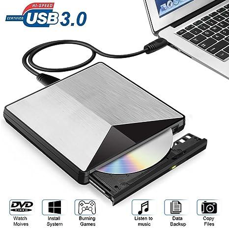 Grabadora CD DVD Externa, XBoze USB 3.0 Portátil Grabadora de Quemador Regrabadora Lector de CD
