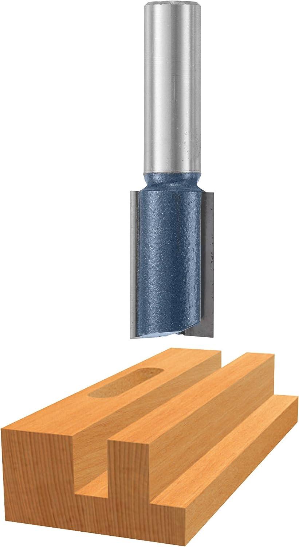 x 1-1//4 In Bosch 85457M 13//16 In Carbide Tipped 2-Flute Straight Bit