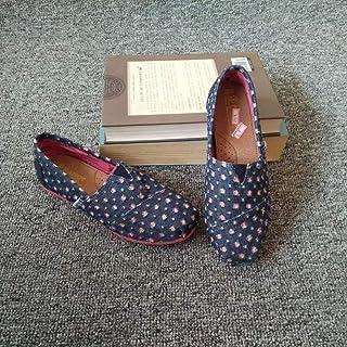 YOPAIYA Chaussures De Pêcheur Trous Classique De Mode Toile Appartements Printemps Été Femmes Chaussures Plates Loisirs Dames Léger Respirant Mocassins Paresseux Espadrill