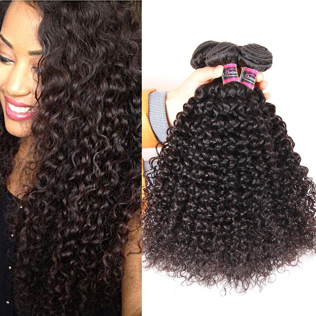 Amazon Brazilian Curly Hair Weave 3 Bundles 16 18 20 300g