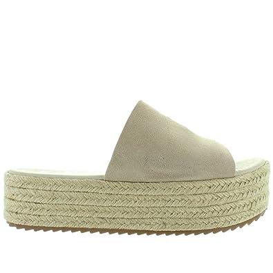 837985e1580 Amazon.com | Coolway Bory - Beige Espadrille Platform Slide Sandal ...