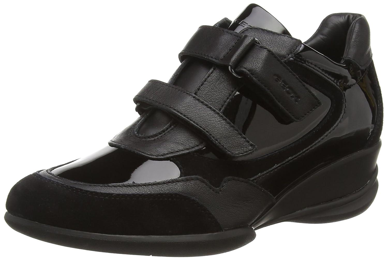 Geox Donna Persefone - Zapatillas de Cuero Mujer 38 EU|Negro (Blackc9997)