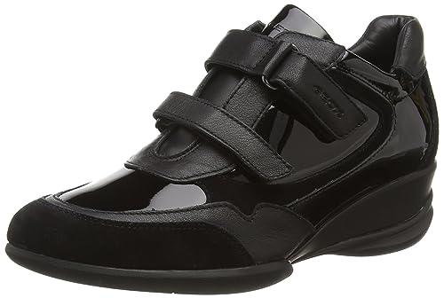 Geox Donna Persefone, Women's Low-Top Sneakers, Black (Black), 3