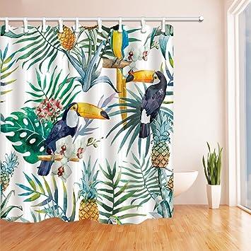 Rideaux De Douche A La Decoration Tropicale De La Nature Par Kotom