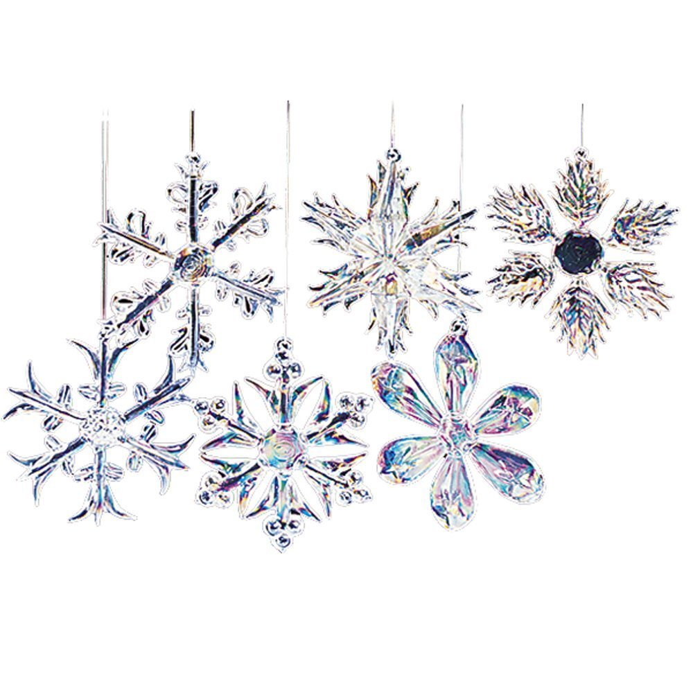 and white item snow artificial decorations home solid tree plastic wedding for diy effect festival snowflake diamond acrylic christmas ornaments decor glitter