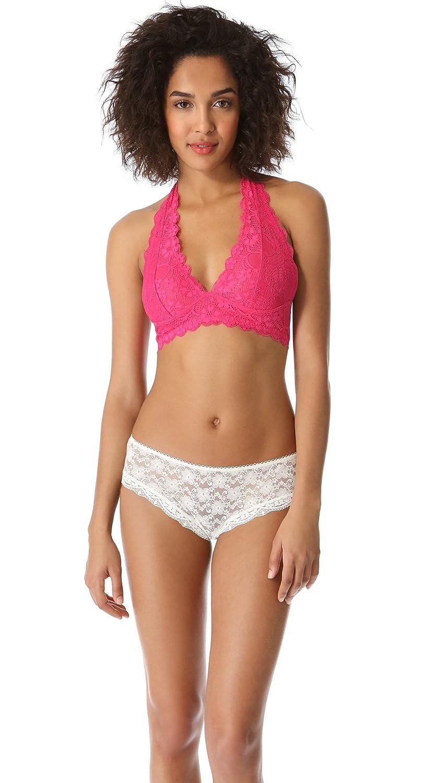 Women's Clothing Free People Pink Galloon Halter Bralette Size M Bras & Bra Sets