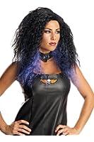 Purple Black Wig Long Halloween Women Costume Accessory Wavy Rock Star Sorceress