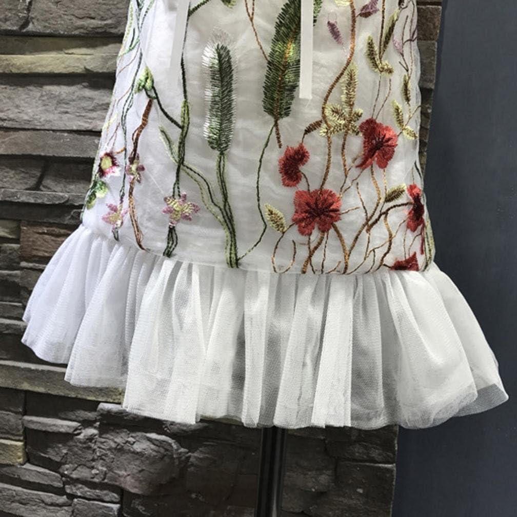 Franterd Girls Floral Dress Kids Casual Beach Princess Dresses Clothes Outfits