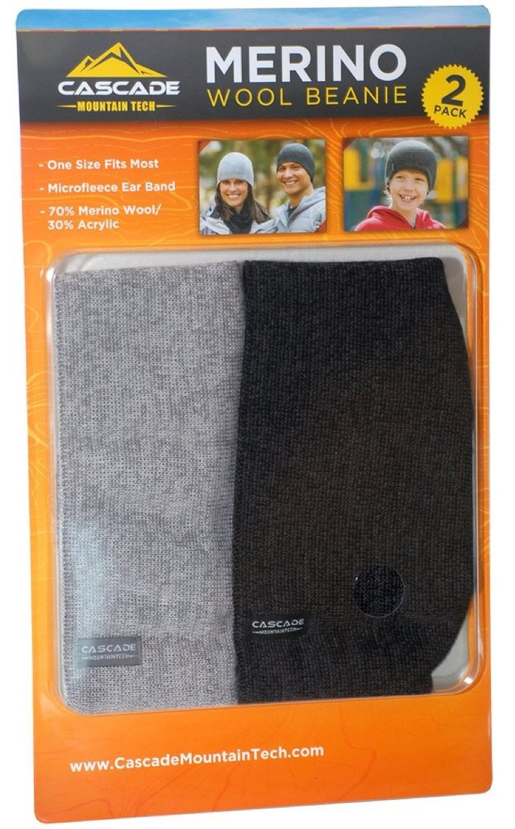 Amazon.com  Wool Beanie Hats (2 Pack)  Sports   Outdoors 12f4b64ff0d