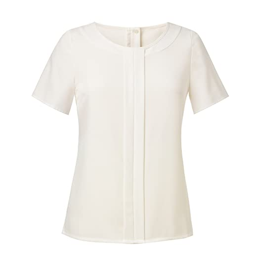 e4d560138452b Brook Taverner Womens Ladies Felina Crepe De Chine Short Sleeve Blouse at  Amazon Women s Clothing store