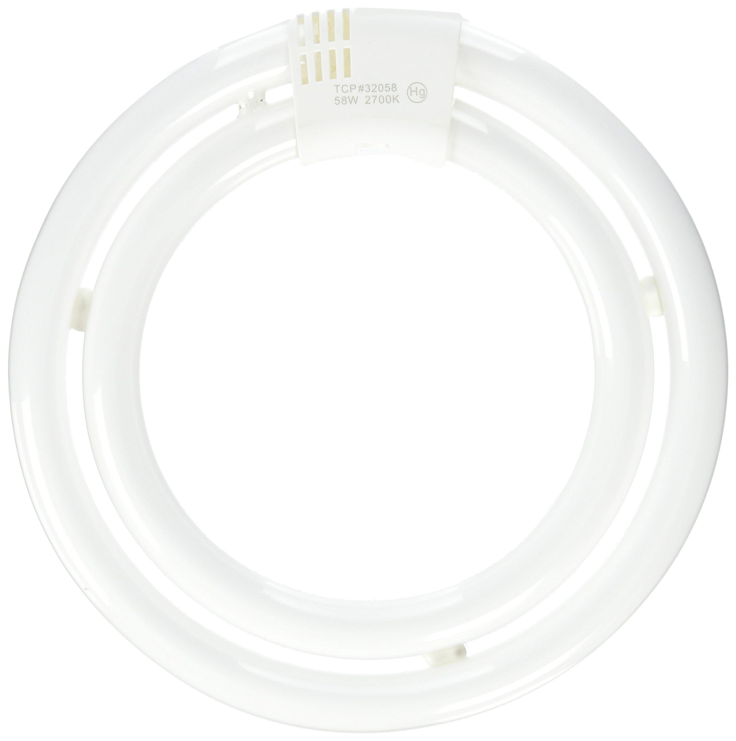 TCP CFL Circle Lamp, 200W Equivalent, Soft White (2700K) T6 Circline Lamp