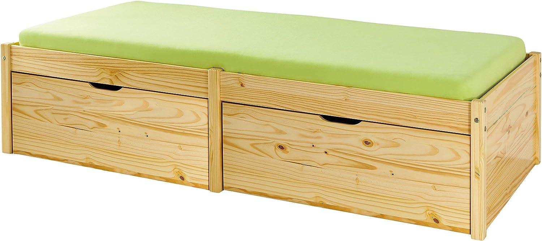 per camera da letto Colore: bianco. Struttura per letto singolo Pino Legno Singolo in legno massiccio Qianmi