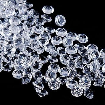 Faburo 3000 Stück Deko Diamanten Hochzeit Streudeko 6mm Transparent