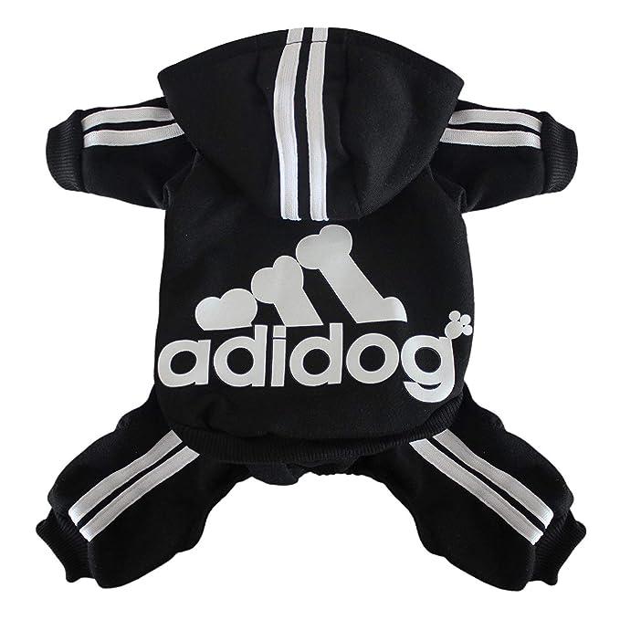 Scheppend Adidog Mascota Ropa para Perro Gato Perrito Sudaderas con Capucha Coat Primavera otoño & Invierno