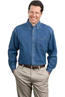 Mafoose Mens Long Sleeve Value Denim Shirt