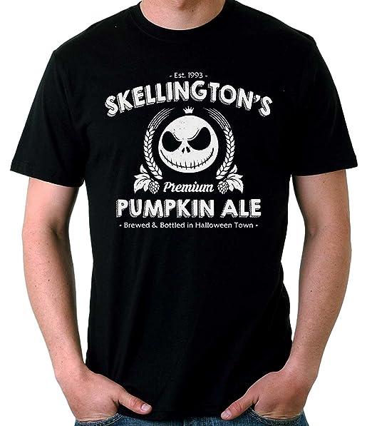 35mm - Camiseta Hombre Jack Skellington Skellington's Pumpkin Ale j6l1gAJjid