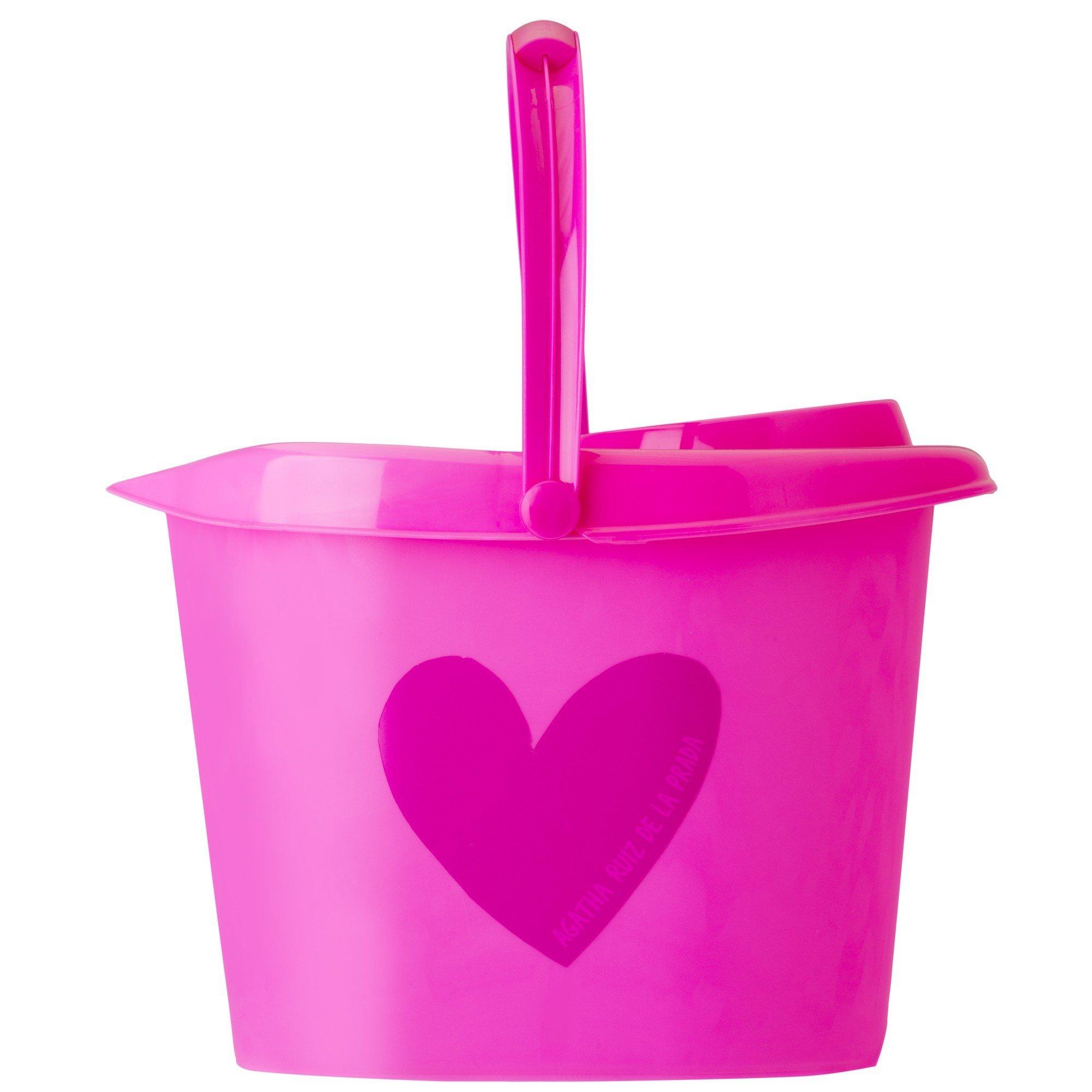 Vigar ARP Rectangular Bucket with Wringer 12 Litre, Color-Pink, One Size