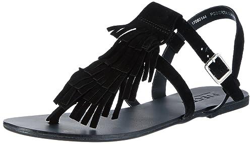 Womens Psberta Suede Wedge Heels Sandals Pieces VjWk40HHXU