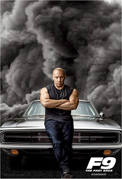 24x36 inches Fast /& Furious Dominic and Brian Poster