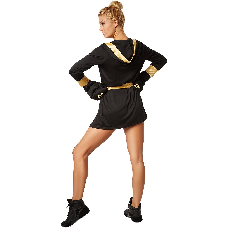fdcfaf44d6 ... Dressforfun Costume da donna - Pugilessa Costume da pugilessa con  pantaloncini, canotta, accappatoio con ...
