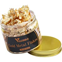 VGSEBA Gilding Gold Leaf Flakes, 5g/Bottle Metallic Imitation Gold Foil Flakes for Gilding, Painting Arts, Crafts Nails…