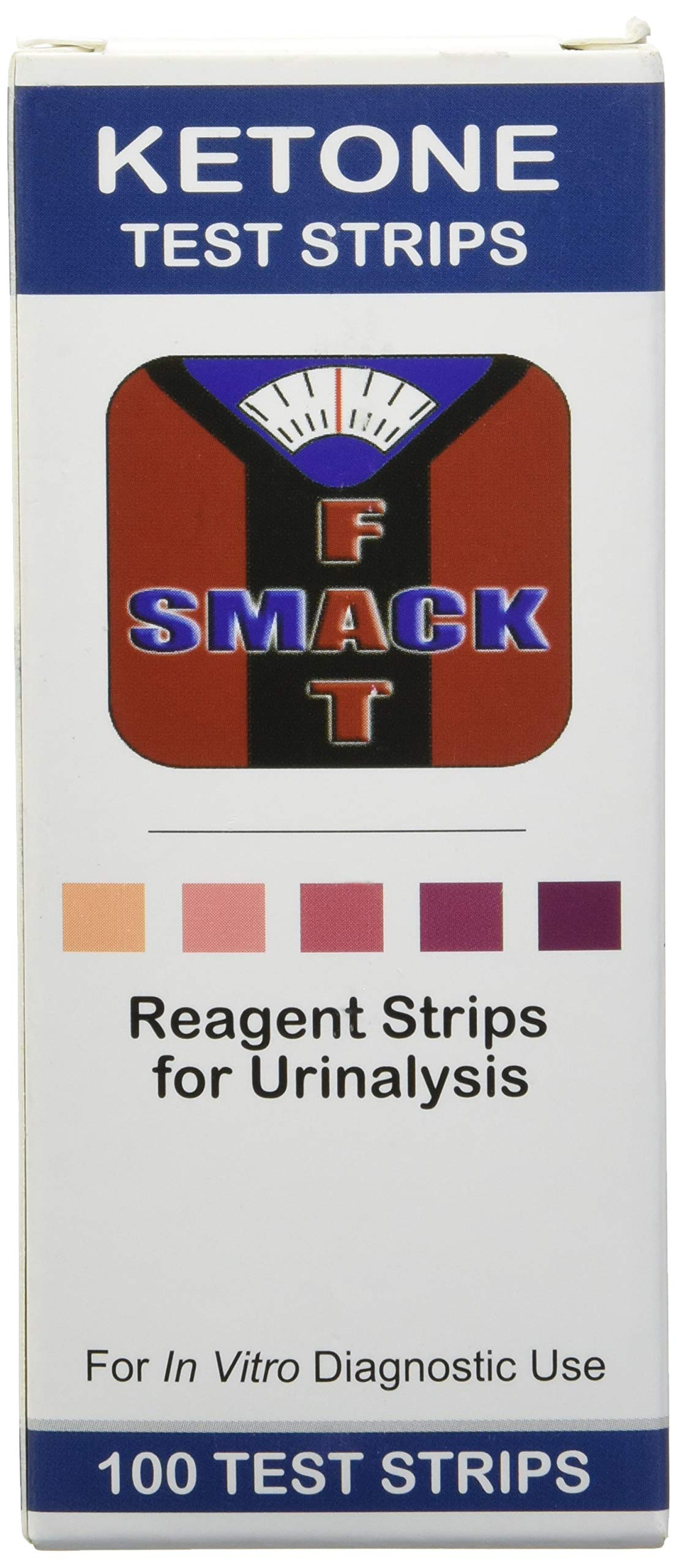 Smackfat Ketone Strips - Perfect for Ketogenic Diet and Diabetics - Precise Ketone Measurement and Supports Ketone Adaptation, 100 Strips