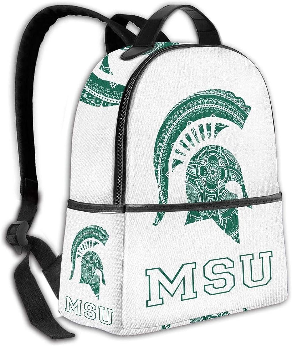 N//C Backpack Travel MSU School Bags Shoulder Laptop Backpack Men Ladies Girls Schoolbags