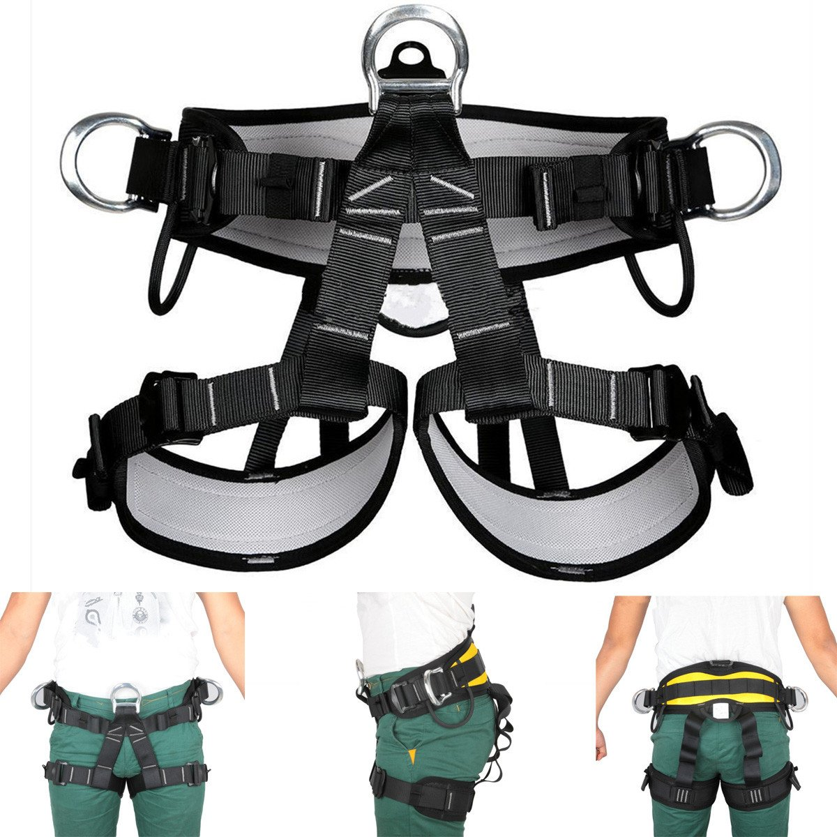 OlogyMart Pro Tree Carving Fall Protection Rock Climbing Equip Gear Rappelling Harness