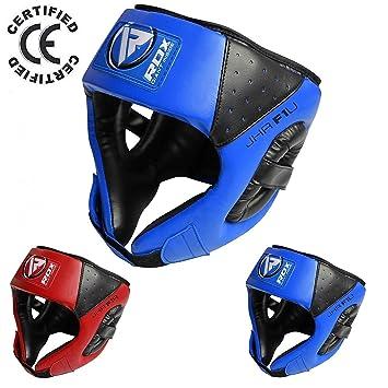 RDX Cuero Niño Boxeo Cascos MMA Kickboxing Sparring Casco Protector Entrenamiento Lucha (CE Certificado Aprobado