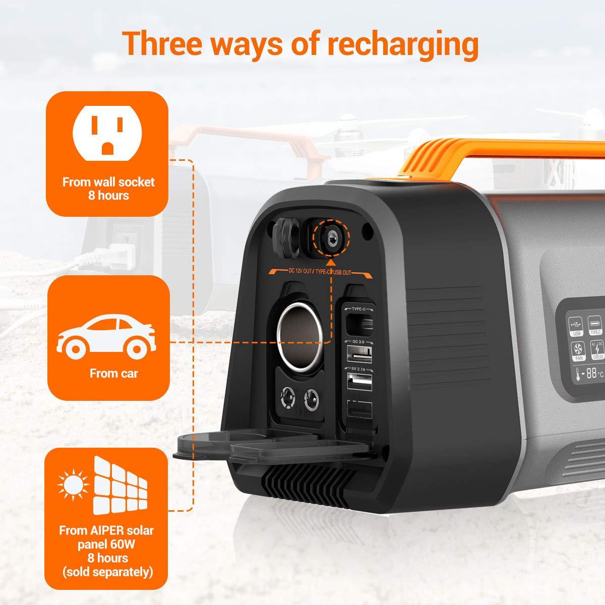 Amazon.com: AIPER - Estación de alimentación portátil Flash ...