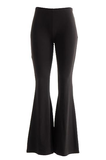 18f28dee4c4 Fashionomics Womens Boho Comfy Stretchy Bell Bottom Flare Pants