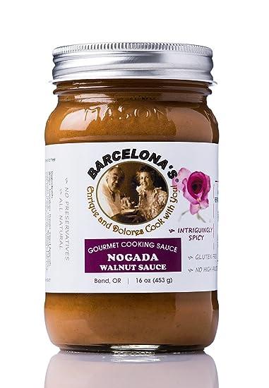 Barcelonas All Natural, Gluten Free, Mole de Nuez (Nogada) Walnut Spicy Gourmet