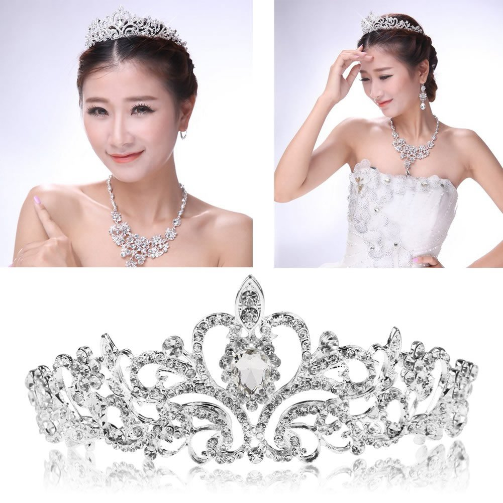 YSTD® Bridal Princess Austrian Stunning Crystal Hair Tiara