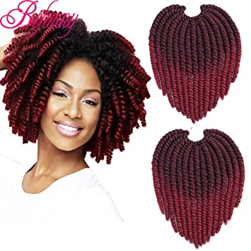 Amazoncom Befunny 8inch 6packs Ombre Havana Twist Crochet Hair