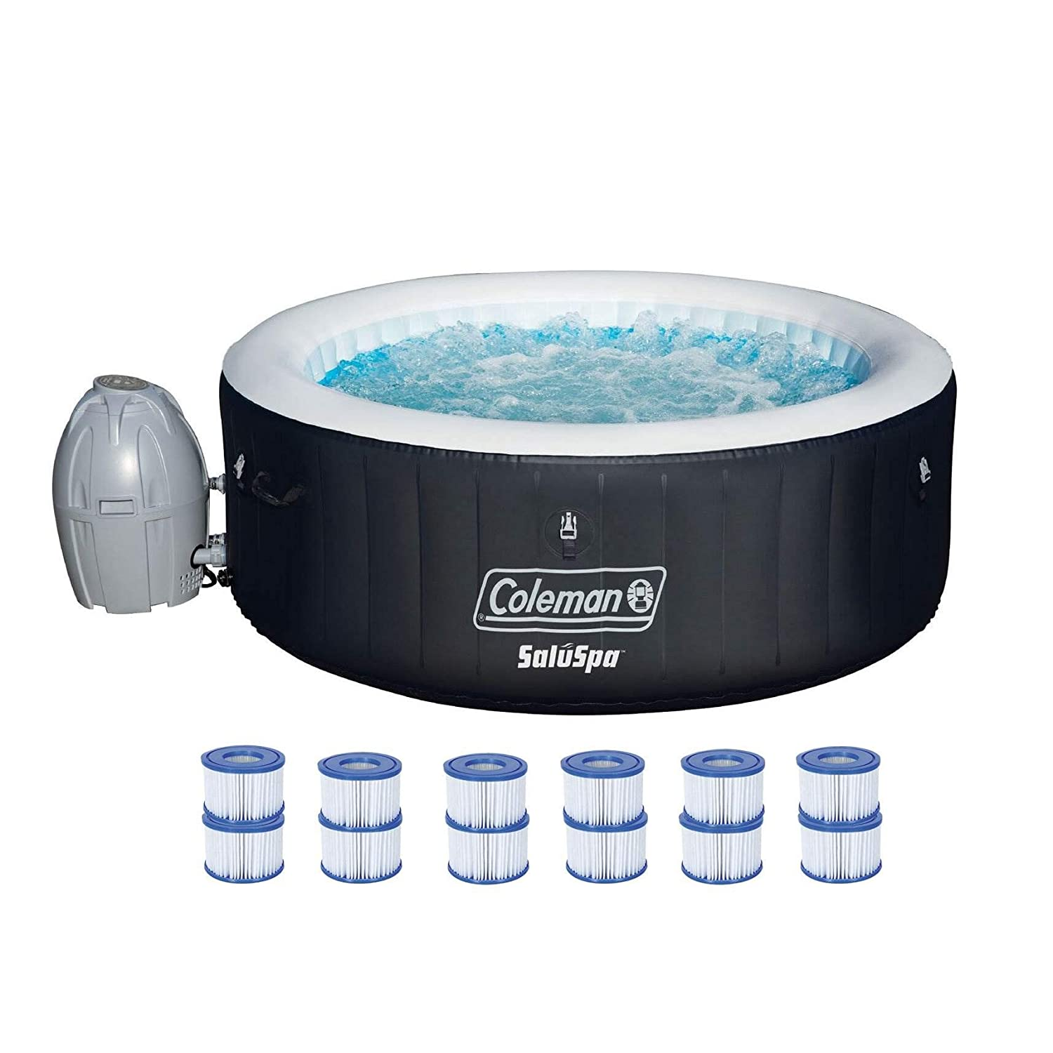 Coleman Hot Tub with 6 Cartridges