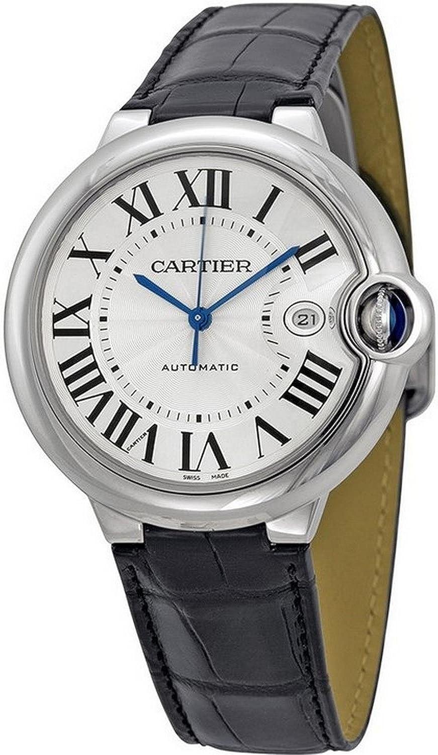 Cartier Ballon Bleu 42mm Acciaio Automatico Argento