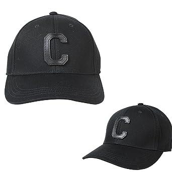 b32ed81685b0f Coach Men s Black Varsity Logo C Black Baseball Cap ONE Size F86147   Amazon.co.uk  Clothing