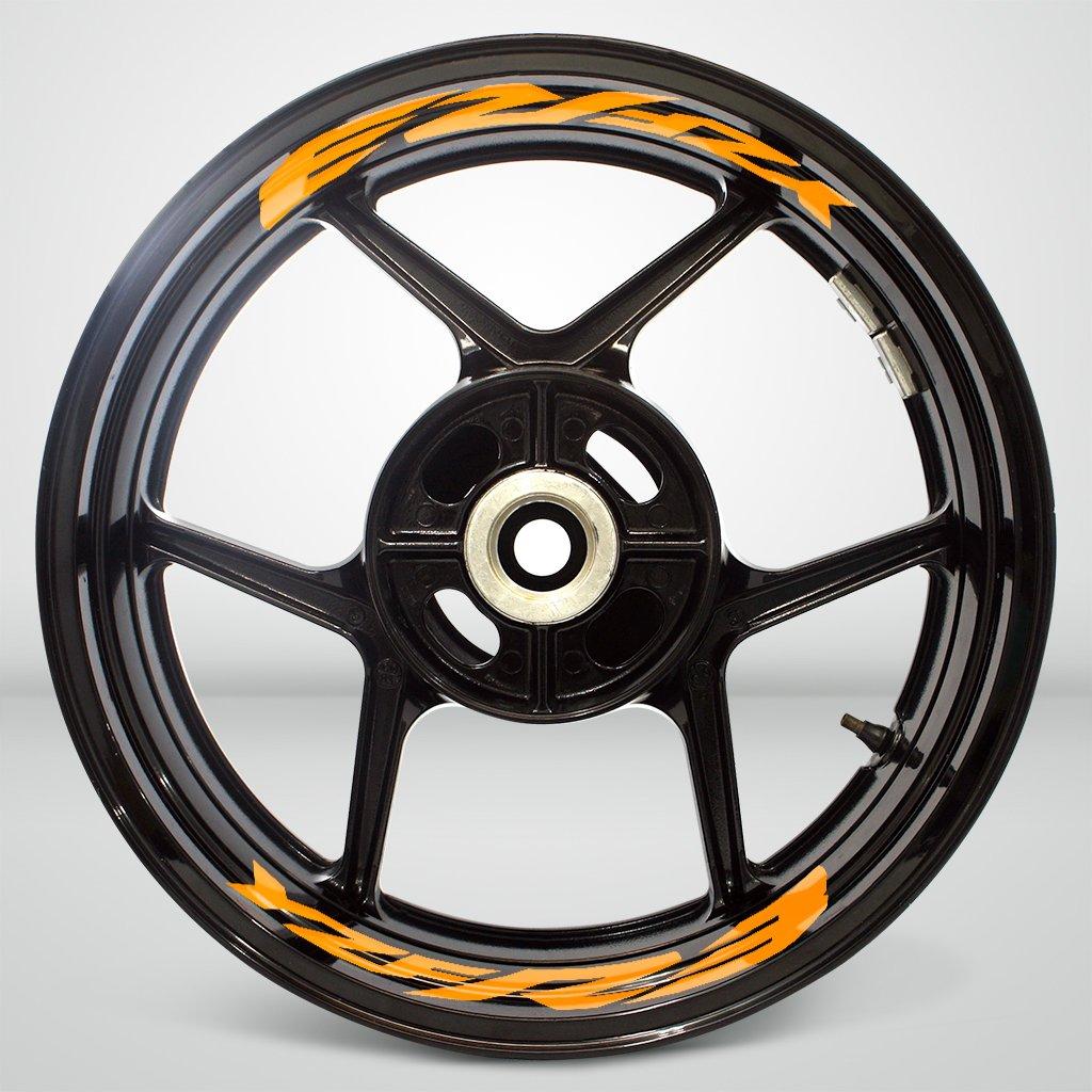 Matte Giallo Ruote Moto Cerchione Inner Rim Tape Decalcomanie Adesivi per Yamaha YZF R3