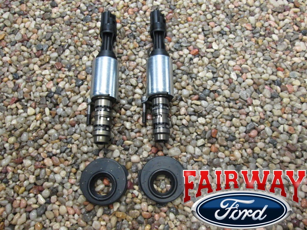 Ford OEM 5.4L 3V VCT Control Solenoid x2 & Valve Cover Seal Gaskets x2 by Ford