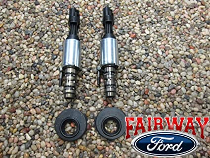 Ford OEM 5 4L 3V VCT Control Solenoid x2 & Valve Cover Seal Gaskets x2