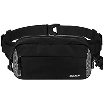1b07bc706a514 Large Bum Bag, 4UMOR Travel Waist Pack,Non-slip Cotton Belt Waist Pouch for  Women Men,Durable Waist Bag Fanny Bag Water Resistant Shoulder Bag for ...