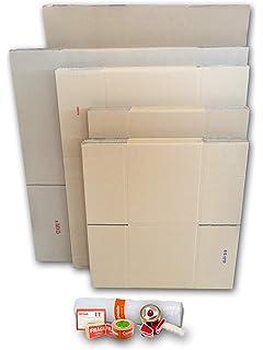 Cajas carton para mudanzas (Pack GRANDE de 26 cajas + accesorios) - Cajas de canal simple,…