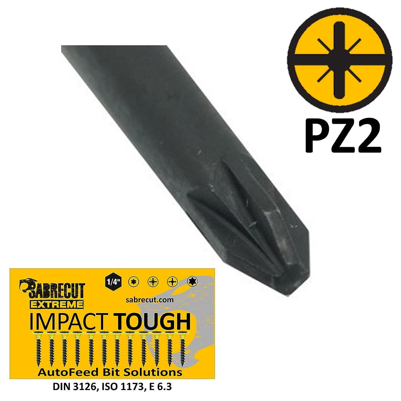 Juego de 5 destornilladores de pared seca de punta plana para Makita P-66282 6834 141 mm, PZ2 SabreCut SC141PZ2/_3