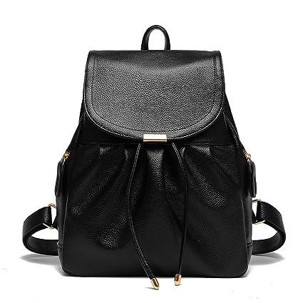 RFVBNM backpack women s doubles shoulder bag female bag leisure Waterproof  PU Leather Backpack Lady bag small 3b7626ac6f820