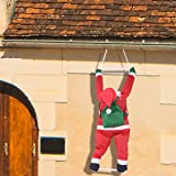 35 Inch Climbing Hanging Santa Claus for Christmas Decoration by Joiedomi