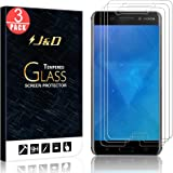 [3-Pack] Nokia 6 Screen Protector, J&D Glass Screen Protector [Tempered Glass] HD Clear Ballistic Glass Screen Protector for Nokia 6 - Protect Screen from Drop and Scratch
