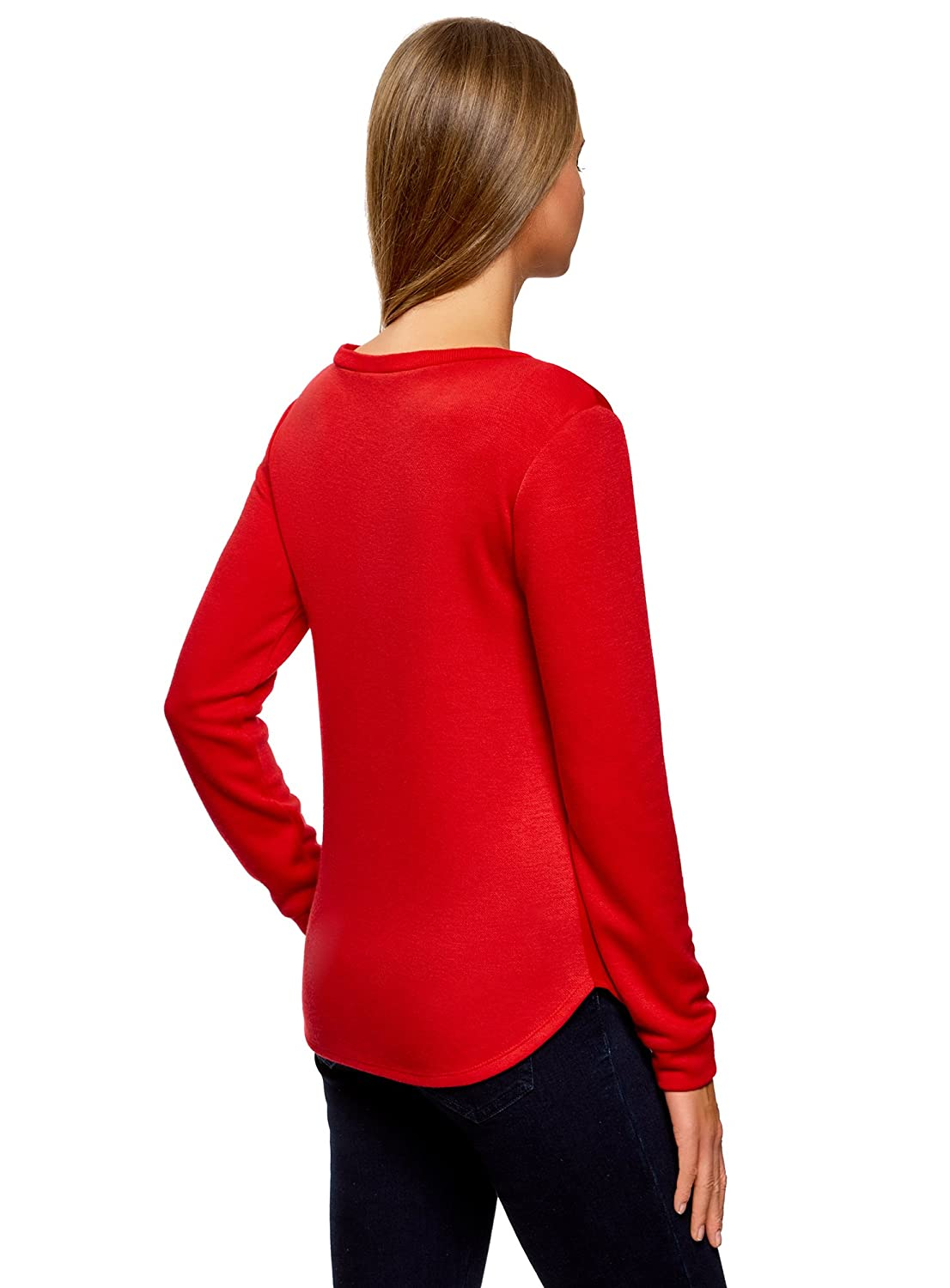oodji Collection Womens Straight-Fit Pullover with Metal D/écor